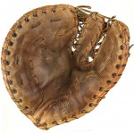 well-used first baseman's mitt